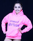gymnastic hoodie warm up sweat shirt training gear 'gymnast with attitude'