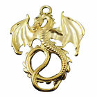 Wholesales Gold Tone Alloy Fierce Flying Dragon Pendant Charm Craft Decor Hot
