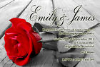 Personalised Engagement Party Invitations Rose Invites E19