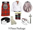 ROYAL STEWART 9 PIECE KILT PACKAGE SPORRAN PIN