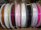 LUXURY ORGANZA SATIN EDGE RIBBON 10MM X 25M  PARTY GIFT  WEDDING FAVOURS RIBBON