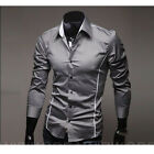 New 2014 Collection Mens Stylish Sexy Formal Casual Slim-Fit Dress Shirt-SS