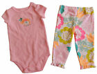 new CARTER'S girls MOMMY LOVES ME ELEPHANT BODYSUIT & PANTS SET nwt 3 9 & 18 mo.