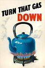 World War Two British Fuel Saving Home Front Poster A3 Print