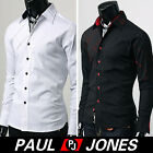 Smart Man Mens Dress Shirts Slim Fit Casual Long sleeve Blouse New size S M L XL