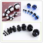 2-12mm Acrylic Pill Capsule O-Rings Ear Plug Flesh Tunnel Expander Stretcher New