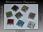 Rhinestone Crystal Disco Square Beads great for Shamballa Great Offer