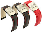 Mens Leather Watch Strap Band Canyon Deployment Clasp 18mm 20mm 22mm 24mm 26- MM