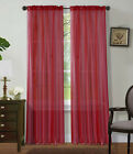 2Pc Sheer Voile Window Panel curtains DRAPE 63&quot; ,84 ,95&quot; or 1Pc SCARF MANY COLOR <br/> 63&quot; SHORT  ,84&quot; STANDARD , AND 95&quot; LONG solid