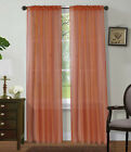 """2Pc Sheer Voile Window Panel curtains DRAPE 63"""" ,84 ,95"""" or 1Pc SCARF MANY COLOR <br/> 63"""" SHORT  ,84"""" STANDARD , AND 95"""" LONG solid"""