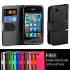 50x FLIP WALLET LEATHER CASE COVER FITS FOR APPLE IPHONE 4 4S WHOLESALE JOB LOTS