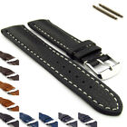 Mens Padded Genuine Leather Watch Straps Bands 18mm 20mm 22mm 24 mm Freiburg VIP