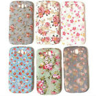 For Samsung Galaxy S3 SIII i9300 Flowers vintage retro chic Hard Case Back Cover