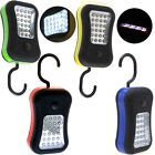 28 LED Magnetic Hanging Outdoors Hook Work Light Flashlight 4 Colors Optional