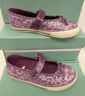 "Clarks Infant Girls Purple Fabric Doodles ""GLAM IT"" G-Fitting"