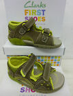 "Clarks Boys First Khaki Sandals ""PUGSLEY FST"" G-Fitting"