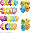 "10 Qualatex 11"" Cute & Cuddly Animals Design Childrens Party Helium Balloons"