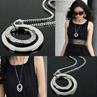 Fashionable OL Joker Fashion Long Set Auger Circular Necklace   Sweater Chains