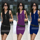 High Quality Elegant Sleeveless Mini Dress XS~L #3202