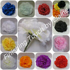 72 Silk flower Artificial Carnation picks MIX COLOURS Wedding. Funerals .Display