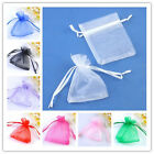 10/50/100pcs Organza Bags Jewlery Wedding Packing Gift Pouch Wholesale 7x9cm New
