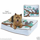 DOG BED FOREST PARK REMOVABLE COTTON COVER PET PUPPY COZY SEERSUCKER NEW