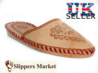 Women's mule slippers, handmade from leather, natural and lightweight.