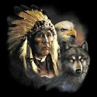 Indian Native American Wolf Eagle Animals T Shirt Sizes Youth and Adult sizes