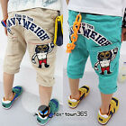 Summer Child Korean Toddlers Boy Baby Child Kids Tiger Print Pants Trousers 2-7Y
