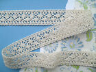 DOVECRAFT ~Natural or White~ Vintage Style Premium Cotton Crochet Lace 25mm