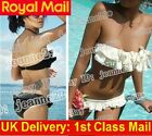 Padded Ruffle Halter Bikini s91 Swimsuit Bathing suit UK 6 8 10 12 14