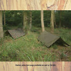 WEB TEX BRITISH ARMY BASHA EMERGENCY SHELTER BUSHCRAFT BIVI TENT SLEEPING COMBO