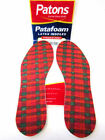 Patons Patafoam Latex Insoles Mens Or  Ladies Cushioned For Comfort.