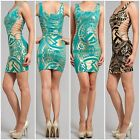 Brand New SYMPHONY  Gold Metallic Printed Dress  Jade,Black S M L