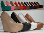 Kyпить Brand New Women's Fashion Round Toe High Heel Platform Wedge Pumps Shoes на еВаy.соm