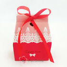 SWEET LOVE Red Wedding Favour Party Gift Boxes Baby Shower New