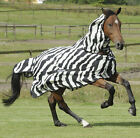 Brand New Bucas Buzz Off Zebra Full Neck Fly Rug with Mask - sizes 3'6 to 5'3