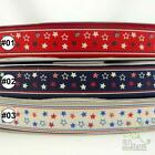 "5/8""1""/1.5""&16/25/38mm red/blue/white stars grosgrain RIBBON 5yards craft sewing"