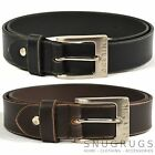 MENS THICK REAL LEATHER BELT DISTRESSED LOOK BROWN BLACK MEDIUM LGE XL XXL