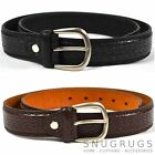 MENS LEATHER SNAKE GRAIN BELT 1.25'' MILANO BLACK BROWN ALL SIZES
