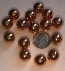 VINTAGE COPPER PLATED PLASTIC - Various 10mm 12mm 14mm 16mm 18mm 22mm Bead Beads