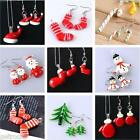 Christmas Santa Claus Snowman Murano Lampwork Glass Pendant Earrings Set Kit DIY