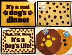 DOG FEEDING MAT PET CAT FOOD BOWL FLOOR CUSHION PAD BED ANIMAL PAW PRINT DINNER