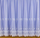 PLAIN TOP 1318 MODERN EMBROIDERED FLOWER FLORAL WHITE VOILE NET CURTAIN