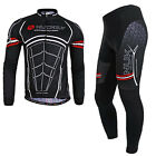 Men Long Sleeve Cycling Breathable Jersey Pants Kits Jacket Tights Maillots Set