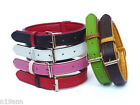 LEATHER COLLAR SIZE LARGE PICK BLACK BROWN LIME RED WHITE FAUX LEATHER LINING