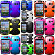 For Samsung Galaxy Centura S738C Rubber IMPACT TUFF HYBRID Skin Case Phone Cover