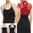 MOGAN Romantic Sheer Floral Stretch Lace BOLERO SHRUG Dress Cover Up Crop Jacket