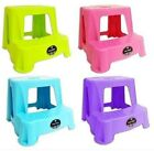 PLASTIC TWO STEP STOOL KITCHEN KIDS CHILDREN PLAY TOILET TRAINER DISABILITY AID