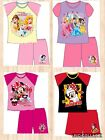 BNWT GIRLS SHORT PYJAMAS (PJ'S) DISNEY MINNIE MOUSE/ PRINCESS AGE 1-8 YEARS